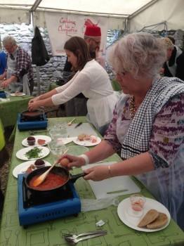 Ludlow Food Fest 2014 Egyptian class